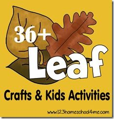 36 Leaf Crafts and Kids Activities for Fall
