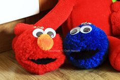 Elmo and Grover Pom Pom Craft