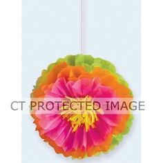 Hibiscus Fluffy Flower Decorations (packquantity3)
