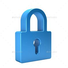 Closed Lock. 3D Rendering Illustration in Transparent background