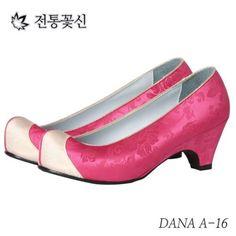 HANBOK-SHOES-Korean-traditional-Women-5cm-hill-girl-dress-wedding-Bride-5colors