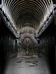 Located in the Indian state of Maharashtra, the magnificent Ellora Caves are 34 structures excavated out of the vertical face of the Charanandri hills. An official UNESCO World Heritage Site, the Ellora Caves consists of 12 Buddhist, 17 Hindu and 5 Jain temples and monasteries built between the 6th and 10th century. Photographed by Girl in the Rain