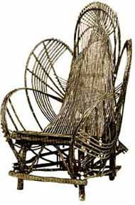 Rustic Willow Adult Chair by Willow Furniture