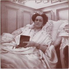 Empress Alexandra Feodorovna of Russia...in her famous mauve boudoir...her favorite color...the furniture from a London department store...rather bourgeois...like her grandmother, Victoria...!