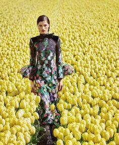 Джулия Ван ОС в полном расцвете Флористической Моды для базара Арфиста