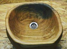 Wooden sink Serving Bowls, Sink, Wood, Tableware, Sink Tops, Vessel Sink, Dinnerware, Woodwind Instrument, Vanity Basin