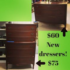 New #furniture - two great #dressers!  Open 10am-5pm at 3916 South Crater Rd in Petersburg.     #charityshop #whybuynew #dining #buylocal #shoplocal #thriftstore #thriftshop #hopewellva #petersburgva #colonialheights #chesterfield #rva #804 #vintagefurniture #furniture #thriftfurniture #dresser #vintagedresser #bedroomdecor #bedroom #homedesign #chestofdrawers