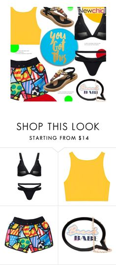 """""""lovenewchic 6"""" by polly301 ❤ liked on Polyvore featuring Sophia Webster, sponsored, newchic and lovenewchic"""