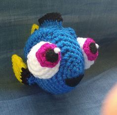 Stitch and Angel - Laetitia Etienne-Giroux - - Stitch et Angel Amigurumi Crochet Pattern: Baby Dory Crochet Mignon, Crochet Fish, Cute Crochet, Crochet For Kids, Crochet Crafts, Yarn Crafts, Crochet Baby, Crochet Projects, Crochet Animals