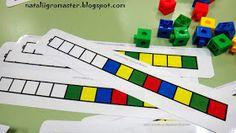 Els jocs que juguen els nens i I: Matemàtiques doshkolyatam Teaching Patterns, Math Patterns, Teaching Tools, Teaching Math, Cubes Math, Visual Perceptual Activities, Act Math, School Organisation, Tangram