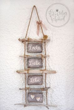 Ladder manufactured from driftwood Laugh, take pleasure in, daily life Dekoholz driftwood ladder laugh lifequot Love quotLaugh Driftwood Jewelry, Driftwood Projects, Driftwood Art, Diy Projects, Driftwood Beach, Barn Wood Crafts, Blog Deco, Wood Carving, Ladder Decor