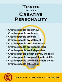 Traits of the Creative Personality