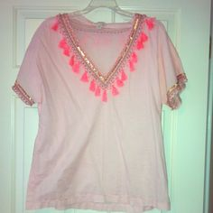 J.crew Beach or Swimming Cover up!!! This is a beautiful pink coverup with sequins, frill, and beading on it. This is very comfortable  and perfect for spring break or any beach vacation!!  J. Crew Other