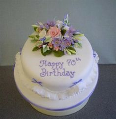 Happy Birthday Cake 70 Years Old For Women Simple 70th