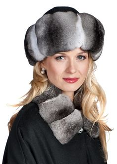 A stunning chinchilla cuffed hat is the perfect accessory to help you enjoy those bone chilling days! Headbands For Short Hair, Winter Headbands, Shopping Outfits, Chinchilla Coat, Coat Outfit, Russian Hat, Winter Heels, Heels Outfits, Animal Hats