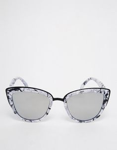 3364df5cb12 Image 2 of Quay Australia My Girl Exclusive Mirror Cat Eye Sunglasses in  Marble Frame Cool
