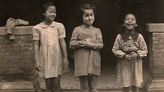 A Jewish girl and her Chinese friends in the Shanghai Ghetto, before 1945