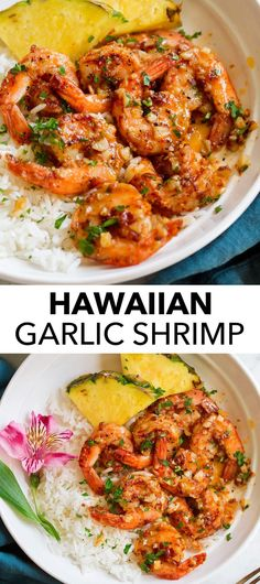The BEST Garlic Shrimp ever! Hawaiian style recipe made with succulent shrimp cooked in an extra garlicky, deliciously rich, butter based sauce. Food Trucks, Hawaiian Garlic Shrimp, Hawaii Garlic Shrimp Recipe, Hawaiian Shrimp Recipe, Garlic Shrimp Recipes, Hawaiin Food, Hawaiian Recipes, Hawaiian Chicken, Shrimp Recipes Easy