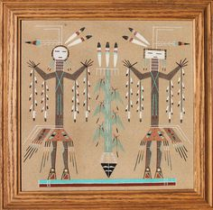 Native American Navajo Southwest Sand Painting . $60.