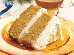 Pumpkin Angel Food Cake with Creamy Ginger Filling - lighter version of the one I pinned a few days ago.