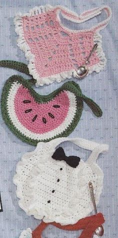 Baby Bibs Crochet Patterns by PatLeB