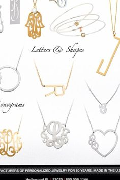Have an idea of what you want for the perfect initial / monogram necklace but don't quite see it? Gemma Collection can work with you to design the perfect custom, personalized necklace. Call us at (469) 232-9357 or email info@gemmacollection.com to learn more!