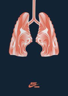 Nike heart health creative print ad