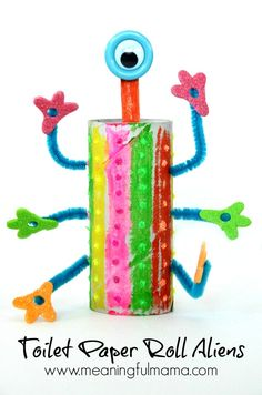 Get creative and use what you already have at home! Make these toilet paper crafts for kids. 20 toilet paper roll crafts that are so fun to make. Paper Crafts For Kids, Space Crafts, Craft Stick Crafts, Projects For Kids, Fun Crafts, Craft Projects, Creative Crafts, Toilet Roll Craft, Toilet Paper Roll Crafts