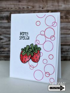 Tracy Mae Design: Berry Special // The Alley Way Stamps, TAWS, Tooty Fruity, stamps, clear stamps, card