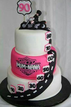 Birthday Harley Davidson Cake