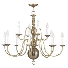 Have to have it. Livex Williamsburg 5014 12-Light Chandelier - $599.9 @hayneedle