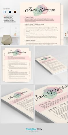 Best Resume Template CV Kiania on - Fonts, Graphics, Themes. Free Cover Letter, Cover Letter For Resume, Cover Letters, Microsoft Word Resume Template, Resume Template Free, Resume Words, Resume Writing, Fashion Resume, Free Resume Examples