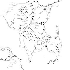 how to draw cliffs on a map