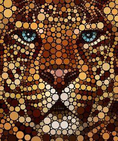 Artwork Type: Print Medium: Giclee Printing Pigment Inks on Museum Grade Fine Art Digital Archival Paper Artwork Description: This majestic artwork is a dynamic representation of a leopard through tho