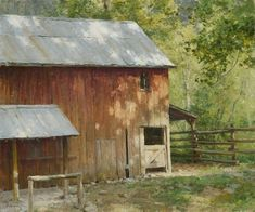"""Dappled Light"" 26x30"" oil on linen by Clyde Aspevig Watercolor Landscape, Landscape Art, Landscape Paintings, Cool Landscapes, Beautiful Landscapes, Clyde Aspevig, Farm Paintings, Dappled Light, Landscaping Work"