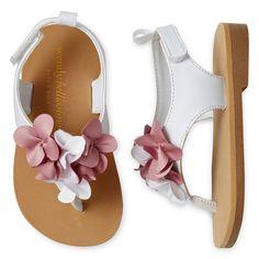 ed2deb5cd1b8 WENDY BELLISSIMO Toddler Girls Laney Flower Sandals Toddler Shoes