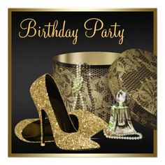 Pearls High Heel Shoes Black Gold Womans Birthday Custom Invite today price drop and special promotion. Get The best buyThis Deals Pearls High Heel Shoes Black Gold Womans Birthday Custom Invite Here a great deal. Glitter Birthday Parties, 70th Birthday Parties, Birthday Ideas, Teen Birthday, Birthday Celebration, Royal Blue And Gold, Black Gold, 60th Birthday Party Invitations, Custom Invitations