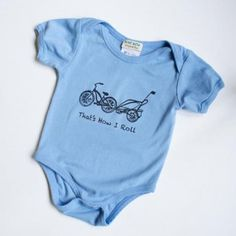 """Blue baby onesie that reads """"That's How I Roll"""""""