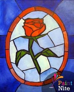 Paint Nite - Stained Glass Rose