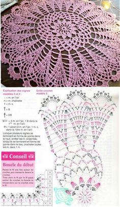 Free Crochet Doily Patterns, Crochet Doily Diagram, Crochet Circles, Lace Patterns, Filet Crochet, Crochet Doilies, Knit Crochet, Sewing Patterns, Thread Crochet