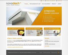 Webdizajn webstránky spoločnosti Novadach. Web Design, Shopping, Design Web, Website Designs, Site Design