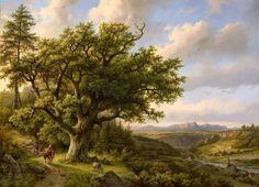 Barend Cornelis Koekkoek - Gezicht op Königstein aan de Elbe 1858