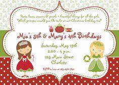 76a7fa693c4181d7aa54f65dfacfe28e christmas birthday party birthday tea parties christmas birthday party invitation christmas birthday,Christmas Tea Party Invitations
