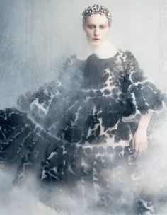 Julia Nobis in Alexander McQueen by Iango Henzi + Luigi Murenu for Vogue Japan September 2014