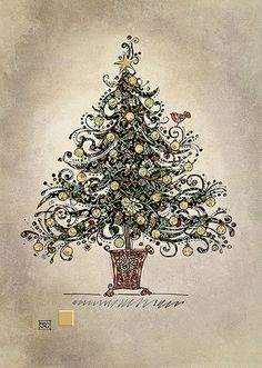 BugArt Christmas Paper & Foil ~ Black Chintz Tree. CHRISTMAS PAPER & FOIL Designed by Jane Crowther. Each card is foiled and embossed, supplied with a gold pearlized envelope. Card size 167mm x 118mm. Some of these designs have a seasonal message inside, some are blank.