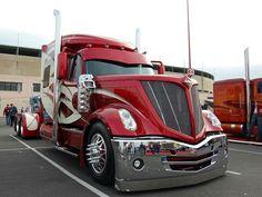 Custom Candy Red Semi Truck