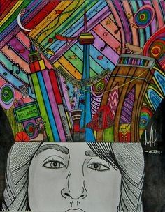 Colored with Sharpies...