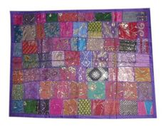 "Bohemian Decor Indian Inspired Tapestry, Purple Sequin Embroidered Wall Hanging Throw Art 70""x40"" by Mogul Interior, http://www.amazon.com/dp/B00BYN86E4/ref=cm_sw_r_pi_dp_IArtrb0HWYVZ3"
