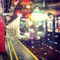 """So much rain this week in New York."" Photo by Dustin Drankoski/The Wall Street Journal. New York Photos, Nyc Subway, Wall Street Journal, Times Square, Rain, Strong, Travel, Instagram, Rain Fall"