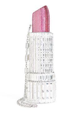 New Judith Leiber Crystal Lipstick Bag. Unique Purses, Unique Bags, Cute Purses, Purses And Bags, Judith Leiber, Fashion Bags, Fashion Accessories, Fashion Women, Diy Purse